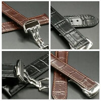 For Omega Speedmaster 20mm 18mm Seamaster Deployment Leather Watch Strap Band