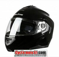 Casque Moto / Scooter Modulable S-line S520 Noir Brillant XL