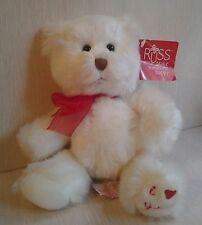"Russ Berrie 11"" White Teddy Bear I Love You Heart White Red Plush NWT 2006"