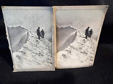 Coloured Stereoscopic No 23 Left & Right Cards On An Icy Plateau