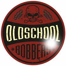 Bobber Oldschool 60cm Aufkleber Sticker Motorrad Rockabilly Rockabella Hot Rod