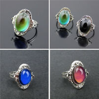 Vintage Mood Ring Changing Color Fashion Adjustable Temperature Control Jewelry
