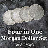 Four in One Morgan Dollar Set Copper by J.C Magic Coin Magic Tricks Illusion Fun