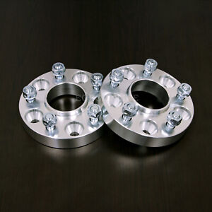 """25mm (1"""") Hubcentric Wheel Spacers - 5x100 to 5x100,  57.1 bore, 12x1.5 Studs"""