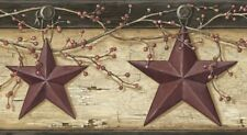 Rustic Barn Star Border Pur44603B wallpaper country red Easy-Walls prepasted