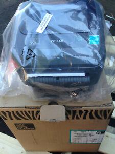 "ZEBRA ZP450-0501-0006 Thermal Label Receipt Barcode Printer 5"" Complete in Box!"