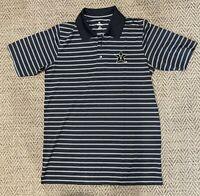 Vanderbilt Commodores Knights Apparel Mens Polo Shirt Gray Black Stripe Size M