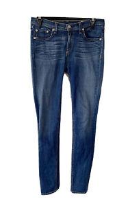Rag And Bone Mid Rise Skinny Jeans Blue Size 29 AU 12
