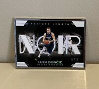 2019 Panini Noir Luka Doncic Feature Length /25 Mavericks Mavs Please Read Desc.