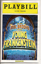 OPENING NIGHT Playbill  Young Frankenstein Mel Brooks Broadway Hilton Theater
