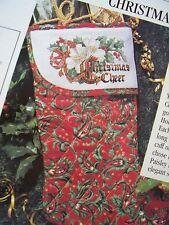Merry Christmas Stocking Magazine Cross Stitch Pattern