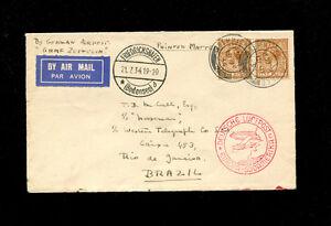 Zeppelin Sieger 260 1934 4th South America Flight Great Britain Treaty Dispatch