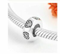 Abstandhalter Clip Stopper Silber 925 Charms Kompatibel Mit Armband Pandora