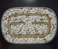 "Williams-Sonoma Portugal Platter Estrela de Conimbriga 23"" Animals Castles"