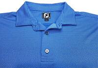 FootJoy FJ Mens Golf Polo Shirt Size XL Light Blue with White Chevron ZigZag