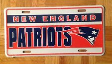 NEW ENGLAND PATRIOTS AUTO LICENSE PLATE 6x12  NFL LICENSED FOOTBALL VINTAGE NEW