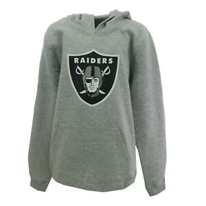 Oakland Raiders Official NFL Kids Youth Size Hooded Sweatshirt New with Tags