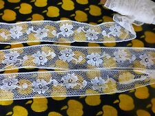 xixè=ancienne fine dentelle 2m,50x1cm,7 petite fleur tulle  vétements anciens