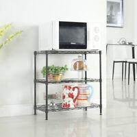 US 3 Tier Kitchen Baker Steel Rack Microwave Oven Stand Storage Cart Workstation