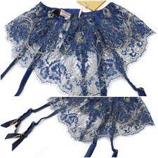 Authentic AGENT PROVOCATEUR SOIREE Kiera Blue Gold Suspender Size 2 Small BNWT