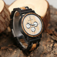 Luxury Wood Quartz Analog  Wrist Watch Fashion Leather Watch For Best Men    i