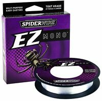 SpiderWire EZ Super Mono Clear / Fluorescent Blue Fishing Line (220 yds)