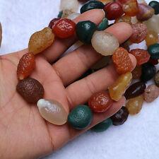 Rare Beautiful Natural Agate Desert Stones Chinese gobi Prayer Bracelet 14MM