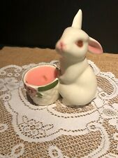 "1980 Avon ""Bunny Bright"" Ceramic Fragrance Candle Holder"