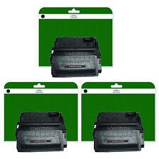 3 Black Toner Cartridges for HP Laserjet 4300 4300DTN 4300N 4300TN non-OEM 39A