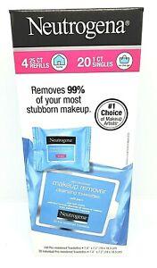Neutrogena Makeup Remover Facial Towelettes, 120-count (4x25) + 20 1CT Singles