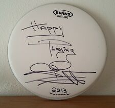 """14"""" Evans Coated Drum Head - Signed by John Craviotto!"""
