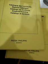 Patek Philippe, 2 booklet of movement Catalog and parts