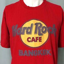 Hard Rock Cafe Bangkok Large Red T-Shirt Thailand Classic Logo HRC Mens Preowned