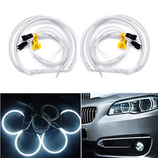 4pcs Led CCFL Angel Eyes Halo Rings Light Lamp 6000K White For BMW E36 E39 E46