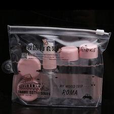 7PCs/set Travel Mini Plastic Transparent Empty MakeUp Container Bottle