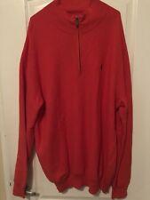 Ralph Lauren New Polo Golf Sweater 1/4 Zipper Red Reef SZ 2XLT Was $125