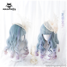 Japanese Sweet Lolita Harajuku Princess Gradient Party Daily Curly Fairy Wig