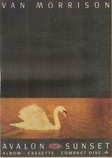 3/6/89Pgn56 Advert: Van Morrison New Album 'avalon Sunset' Out Now 15x11