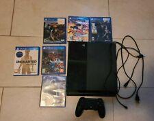 Jet Black PS4 w/ 500gb + 6 games