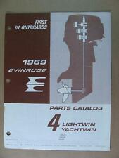 1969 OMC EVINRUDE 4HP LIGHTWIN YACHTWIN OUTBOARD MOTOR ENGINE PARTS CATALOG 4614