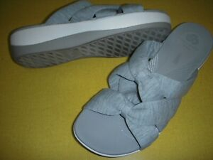 Clarks Arla Dristi CloudSteppers Jersey Slides Sandals Women's 5.5 M Grey 5.5M ~