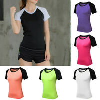 Fashion Women's Casual Yoga Sport Blouse Tops T-Shirt Running O Neck Blouse Top