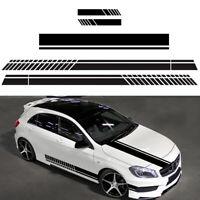 5Pcs Car Side Door Body Hood Rearview Mirror Decal Stripes Sticker Racing Decals