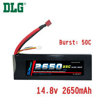 Genuine DLG RC Battery 14.8V 4S 25C 2650mAh Burst 50C Li-Po LiPo Dean's T plug