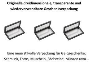 3x Schweberahmen WEISS, eine exklusive stilvolle Geschenkverpackung 23x9x2cm