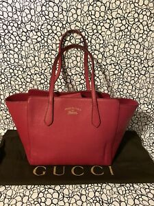 Authentic GUCCI Swing Tote Bag leather