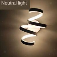 Applique da parete a LED Applique semplice a spirale di design Lampada da parete
