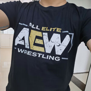 All Elite AEW Wrestling Front Logo men t-shirt summer fashion cotton t shirt