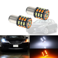 2x Switchback 1157 S25 31-SMD LED Bulbs For Front Turn Signal DRL Driving Lights