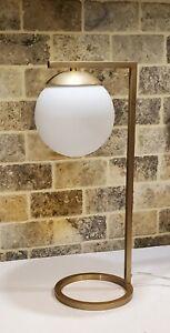 "Mid Century Modern Brass Gold Desk Table Lamp Adjustable Dimmer 20"""